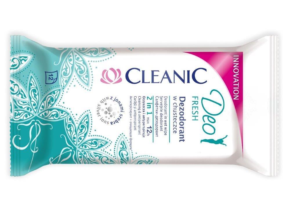 Cleanic Deo Fresh dezodorant w chusteczce_cena 3.99 zł (12 szt.)