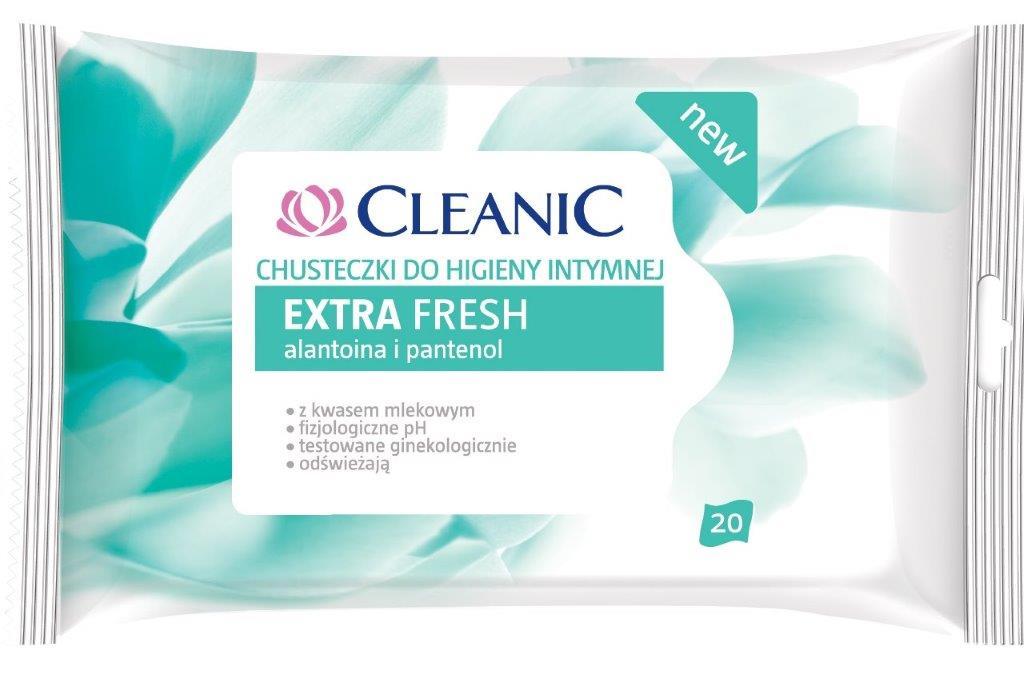 Cleanic Extra Fresh chusteczki do higieny intymnej_cena 7,39 zł (20 szt.)