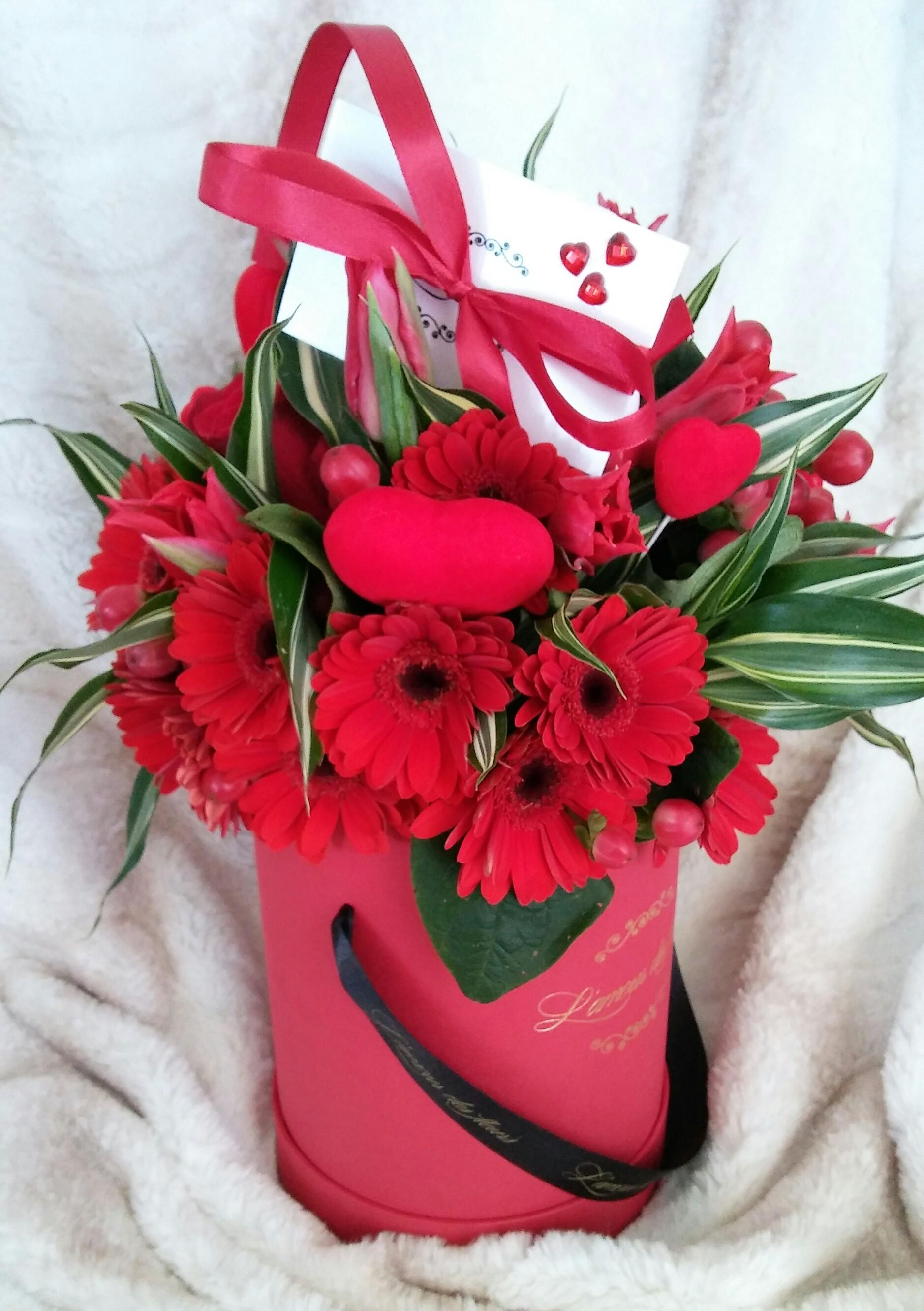czerwony 40 kwiatów